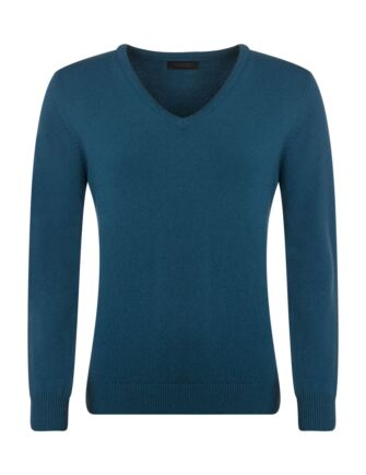 Ladies Great & British Knitwear Touch Of Cashmere V Neck Jumper