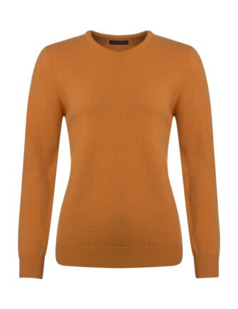 Ladies Great & British Knitwear Touch Of Cashmere Crew Neck Jumper Mandarin B Small