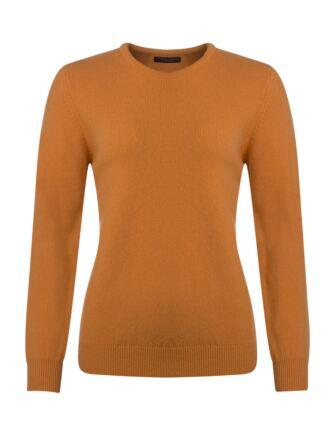 Ladies Great & British Knitwear Touch Of Cashmere Crew Neck Jumper Mandarin C Medium