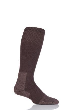 Mens and Ladies 1 Pair Thorlos Extreme Cold Cushioned Ski Socks Brown 8.5-12 Unisex