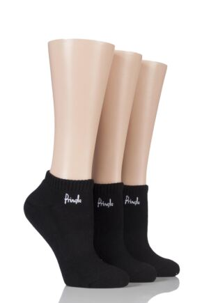Ladies 3 Pair Pringle Johanne Cushion Trainer Socks