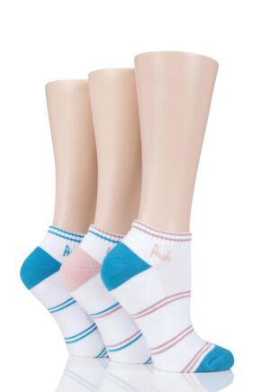 Ladies 3 Pair Pringle Johanne Cushion Trainer Socks