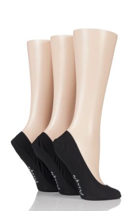 Ladies 3 Pair Pringle Marian Shoe Liners Black 4-8