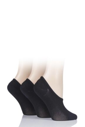 Ladies 3 Pair Pringle Nylon Shoe Liner Socks