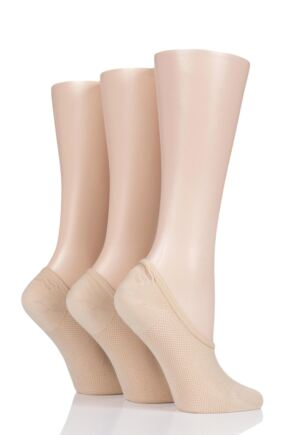 Ladies 3 Pair Pringle Nylon Shoe Liner Socks