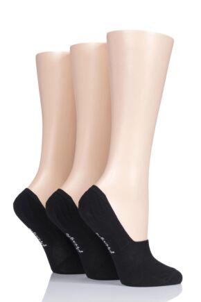 Ladies 3 Pair Pringle Cotton Loafer Shoe Liner Socks