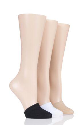 Ladies 3 Pair Pringle Rolana Super Hidden Cotton Rich Toe Covers