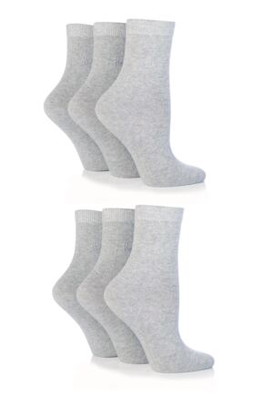 Ladies 6 Pair Pringle Tiffany Plain Trouser Socks