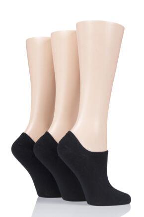Ladies 3 Pair Pringle Plain Cotton Secret Socks