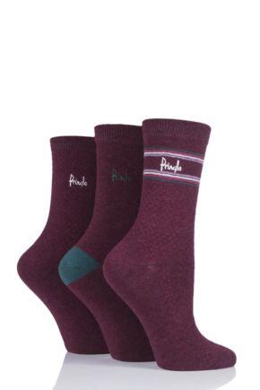Ladies 3 Pair Pringle Lissa Pin Dot Cotton Socks