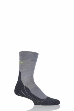 Mens 1 Pair Falke RU4 Cushioned Wool Sports Crew Socks