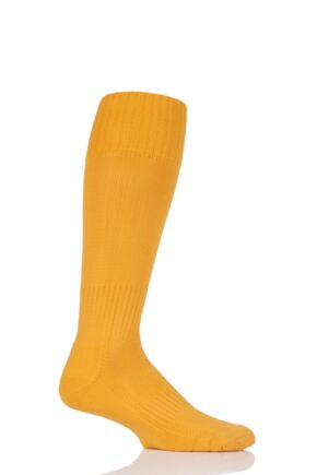 Mens 1 Pair SOCKSHOP of London Made in the UK Plain Football Socks Gold 6-11