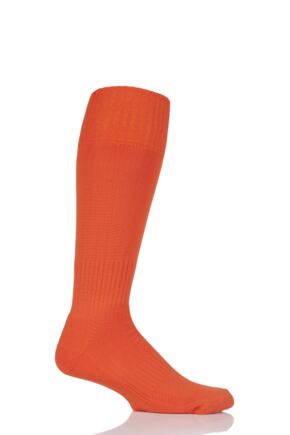 Mens 1 Pair SockShop of London Made in the UK Plain Football Socks Orange 6-11