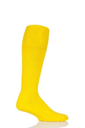 Mens 1 Pair SOCKSHOP of London Made in the UK Plain Football Socks Yellow 6-11