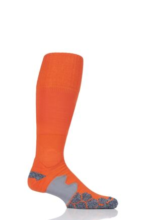 Mens 1 Pair SockShop of London Made in the UK Cushioned Foot Technical Football Socks Orange 6-11