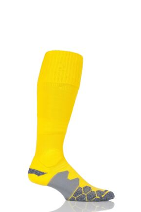 Mens 1 Pair SOCKSHOP of London Made in the UK Cushioned Foot Technical Football Socks Yellow 6-11