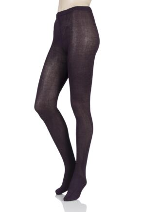 Ladies 1 Pair Elle Plain Bamboo Tights