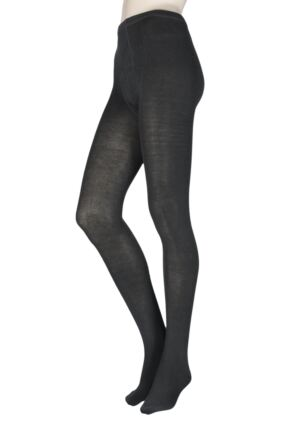 Ladies 1 Pair Elle Warm and Soft Winter Tights Charcoal ML