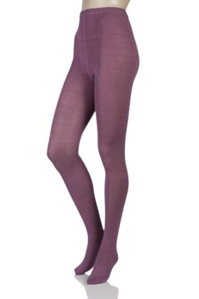 Ladies 1 Pair Elle Warm and Soft Winter Tights Dawn Pink Small / Medium
