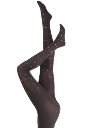 Ladies 1 Pair Elle Winter Soft Diamond Patterned Tights