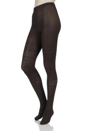Ladies 1 Pair Elle Winter Soft Fair Isle Patterned Tights