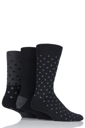 Mens 3 Pair Farah Cushioned Foot Spotty Socks