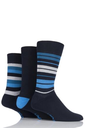 Mens 3 Pair Farah Cushioned Foot Striped Socks