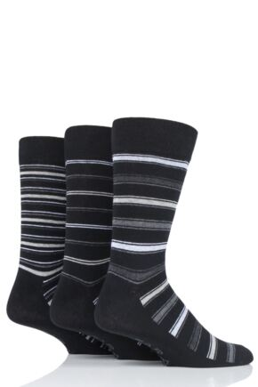 Mens 3 Pair Farah Classic Stripe Socks