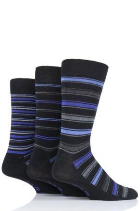 Mens 3 Pair Farah Classic Stripe Socks