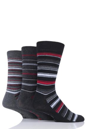 Mens 3 Pair Farah Classic Stripe and Argyle Socks
