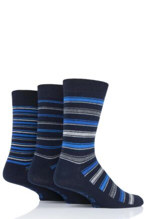 Mens 3 Pair Farah Classic Stripe and Argyle Socks