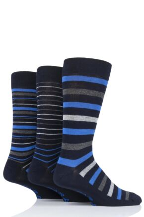 Mens 3 Pair Farah Luxury Bamboo Stripe Socks