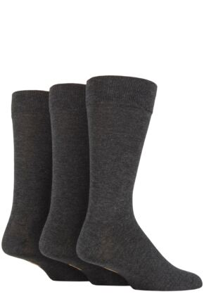 Mens 3 Pair Farah Luxury Bamboo Stripe Plain and Argyle Socks