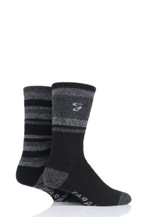 Mens 2 Pair Farah Brushed Inner Boot Socks