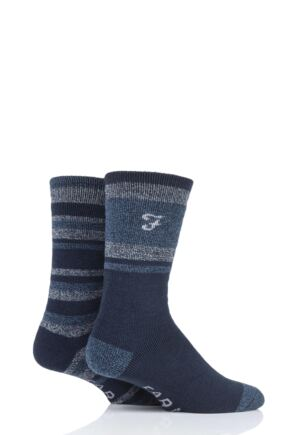 Mens 2 Pair Farah Brushed Inner Boot Socks