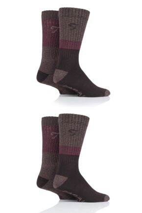 Mens 4 Pair Farah Performance Boot Socks