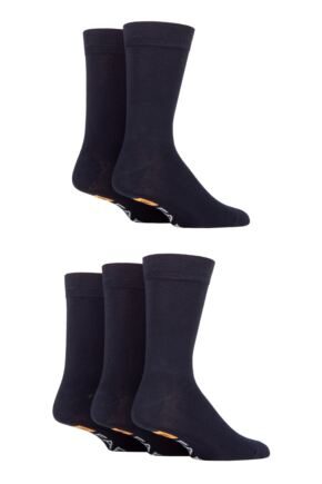 Mens 5 Pair Farah Classic Plain Bamboo Socks