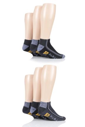 Mens 6 Pair Farah Cushioned Trainer Socks
