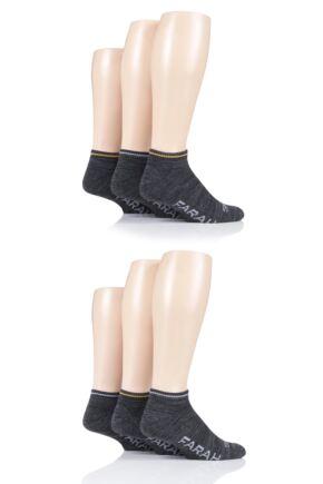 Mens 6 Pair Farah Plain Cushioned Trainer Socks
