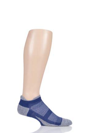 Feetures 1 Pair Elite Max Cushion Trainer Socks Power Purple Small