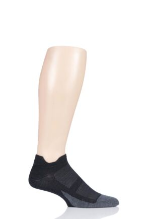 Mens and Ladies 1 Pair Feetures Elite Max Cushion No Show Socks