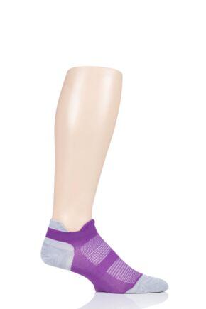 Feetures 1 Pair Elite Ultra Light Cushion Trainer Socks Ruby L (8-11)