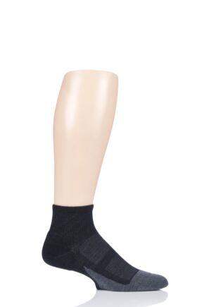 Mens and Ladies 1 Pair Feetures Elite Max Cushion Quarter Socks