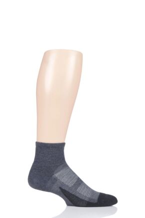 Mens and Ladies 1 Pair Feetures Elite Max Cushion Quarter Socks