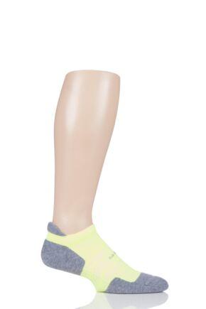 Feetures 1 Pair High Performance 2.0 Light Cushion Trainer Socks Reflector M (5-7.5)
