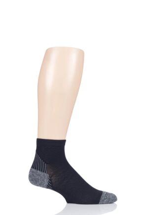 Mens and Ladies 1 Pair Feetures Plantar Faciitis Relief Light Cushion Quarter Socks