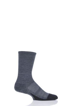 Mens and Ladies 1 Pair Feetures Merino 10 Crew Socks