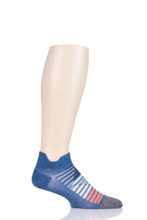 Mens and Ladies 1 Pair Feetures Elite Ultra Light Running Socks Nebula Navy 11.5-14.5 Unisex