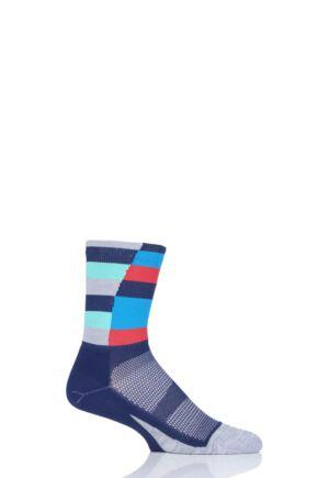 Mens and Ladies 1 Pair Feetures Elite Light Mini Crew Running Socks