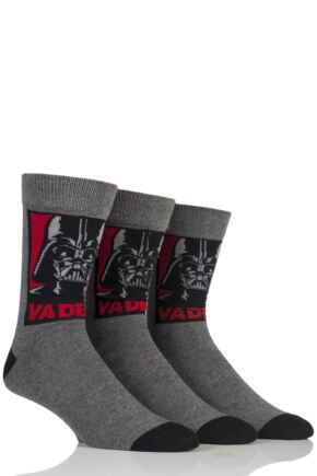 Mens 3 Pair SockShop Star Wars Darth Vader Socks